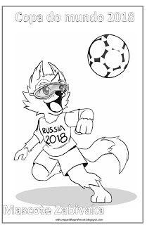 Mascote Copa Da Russia Para Colorir Copa Da Russia Colorir