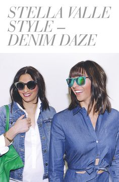 The Stella Valle sisters are decked out in crisp white shirts and denim, but what really pulls their outfits together are rings and bracelets from Stella Valle. Use code DENIMLOV3 for $35 off a $100 purchase, valid 2/10-2/20. #zindigo #zindigodaily #stellavalle #denimdaze