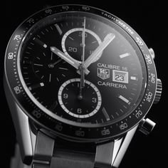TAG Heuer Carrera Calibre 16 Automatic Chronograph 100 M - 41 mm watch -2