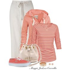VANS Shoes & a Striped Top, created by maggie-jackson-carvalho on Polyvore
