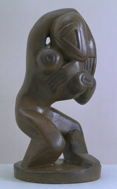 Henri Gaudier-Brzeska, 'Red Stone Dancer' circa 1913. Sculptor with very interesting work, though he died very young, at age 23.