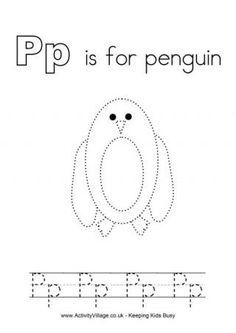 Tracing Alphabet P