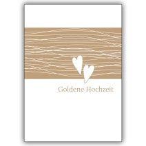 Klassische Glückwunschkarte zur Goldenen Hochzeit.