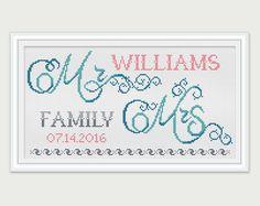 Wedding Cross Stitch Pattern Sampler Cross by PatternsTemplates