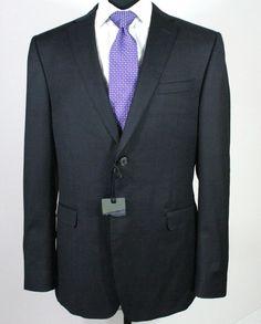 Z-Zegna 2-Button Trim Fit Charcoal Plaid Suit 42R New #ZZegna #TwoButton