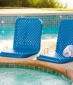Our Folding Poolside Seat is made of two layers of soft closed-cell foam that cover a supportive steel frame. You'll enjoy this comfortable seat for seasons to come.