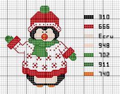 Penguin cross stitch