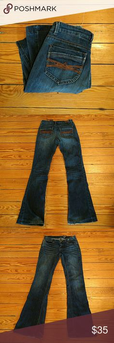 Buffalo David Bitton boot cut jeans Boot cut style. Some frays around bottom otherwise great condition. Size 27 (3/4). Buffalo David Bitton Jeans Boot Cut