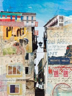 collage art PaperArtsy: 2017 Topic Doors, Windows and Architecture {Challenge} Collage Kunst, Art Du Collage, Collage Art Mixed Media, Painting Collage, Collage Artists, Acrylic Paintings, Art Collages, Word Collage, Urban Painting