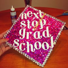 Next stop.. Grad school - graduation cap | Graduation Cap Decorations…