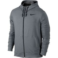 Nike Dri-FIT Training Fleece Full-Zip Hoodie ($75) ❤ liked on Polyvore featuring men's fashion, men's clothing, nike mens clothing, nike mens apparel and slim fit mens clothing