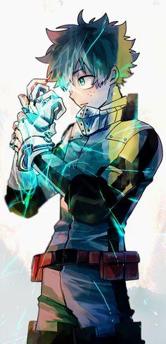 Izuku Midoriya My Hero Academia fanart manga anime Boku No Hero Academia, Deku Hero Academia, My Hero Academia Memes, Hero Academia Characters, My Hero Academia Manga, Anime Characters, Anime Figures, Manga Anime, Fanart Manga