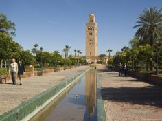 Koutoubia Minaret, Marrakesh, Morocco, North Africa, Africa