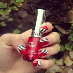 What's black, white and red all over? Melody Botteicher's #nails! #nailsoftheday
