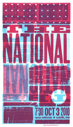 Brad Vetter for Hatch Show Print, via www.bradvetterdesign.com