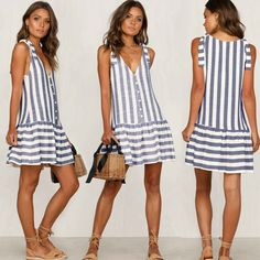 Casual Summer Dresses, Summer Dresses For Women, Simple Dresses, Casual Wear, Dress Casual, Sundress Pattern, Women's Summer Fashion, Fashion Outfits, Womens Fashion