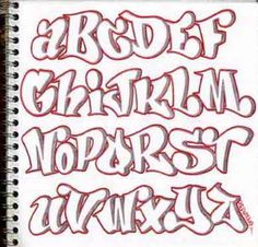 block letters graffiti alphabet design-sketch-graffiti-alphabet-letters-in-the-paper-broke-ass-stuart Alphabet Design, Alphabet A, Fonte Alphabet, Design Letters, Bubble Letters Alphabet, Graffiti Lettering Fonts, Doodle Lettering, Creative Lettering, Lettering Styles