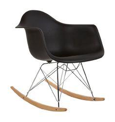 Charles Eames Style RAR Rocking Chair   Black   39.99