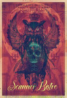 hibou skull capteur de rêve église croix satanisme couronne quebec scanner bistro