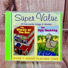 Childrens Choice 20 Songs Stories Nursery Rhymes Kids CD Over 1 Hour for sale online Children's Choice, Cds For Sale, Wheels On The Bus, Ugly Duckling, Stories For Kids, Nursery Rhymes, Being Ugly, Amp, Songs
