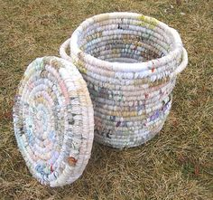 POETIC  large textile art BASKET hamper with by thekeepershouse, $173.00