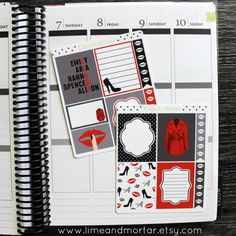 BEAUTIFUL LIAR PACK  INCLUDES: 7 full boxes, 1 half boxes + 4 checklists Size Options: EC VERTICAL = 3.75 x 4.75cm EC HORIZONTAL = 3.75 x 4.2cm HAPPY PLANNER= 3.75 x 5.8cm Perfect to use on the finale week for the final episode of Pretty Little Liars. These planner stickers are printed on premium matte sticker paper to allow you to write on them. Please note colour may vary on each computer monitor.  All designs © Lime and Mortar All Rights Reserved Red Coat by Scott R