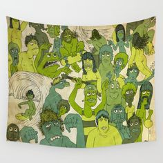 Party Hardy Wall Tapestry. #illustration #graphic-design #collage #vintage
