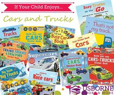 Does your child love cars or trucks? You must check out these books click photo to browse #worthit #usborne #education #wordworms #books