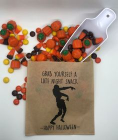 Excited to share this item from my shop: 25 Pk Halloween Candy Bags Trick or Treat Zombie Happy Halloween October Scary Boo Snack Bag Candy Party Favo Halloween Candy Bags, Christmas Candy, Happy Halloween, Candy Party, Party Favors, Late Night Snacks, Snack Bags, Paper Goods, Trick Or Treat