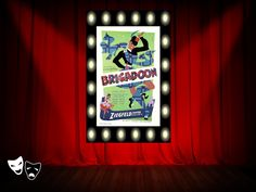 """Brigadoon"" Broadway poster http://www.pinterest.com/donwinston/the-gristmill-playhouse/ http://www.donwinston.com"