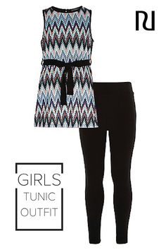 cdae9e97cec6 This two-piece patterned tunic and leggings set is the perfect spring combo  for your