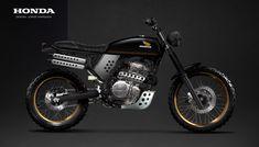 Honda Dominator Scrambler. Design by Jorge Marques #dominator #scrambler #honda #Jorge Marques