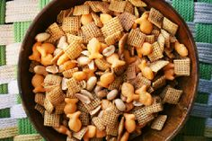 Cajun Chex Mix-- talk about GOOD!
