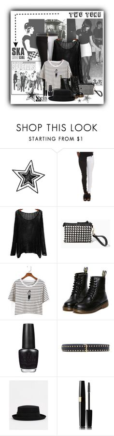 """80s London Ska (SheIn)"" by annette-heathen ❤ liked on Polyvore featuring OPI, Allegri Milano, Catarzi, StreetStyle, blackandwhite, retro, ska and shein"