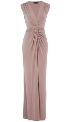 cb72c64038d3 Dorothy Perkin Staupe Knot Maxi Dress Perfect for a wedding guest by odessa