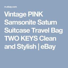 c42213ebda20 Vintage PINK Samsonite Saturn Suitcase Travel Bag TWO KEYS Clean and  Stylish