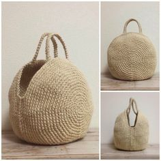 Knit Basket, Crochet Basket Pattern, Crochet Patterns, Crochet Shoes, Knit Crochet, Crochet Market Bag, Macrame Bag, Craft Bags, Crochet Handbags