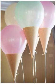 Balloon Ice Cream Cones