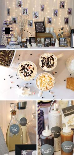 Beautiful winter onederland first birthday party hot for Food bar 810