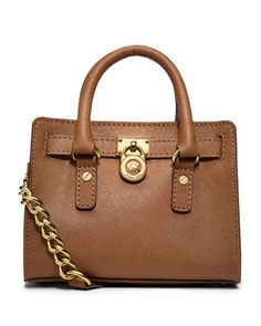 I NEED THIS!!!!!! i hope it is at the outlet!!! MICHAEL Michael Kors Mini Hamilton Saffiano Messenger Bag