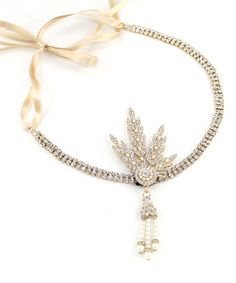 Another great find on #zulily! Goldtone & Crystal Gatsby Leaf Medallion Headpiece by Kristin Perry Accessories #zulilyfinds