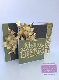 Christmas card made using Crafter's Companion Sara Signature Traditional…
