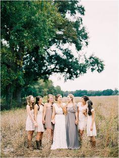 creme bridesmaid dresses