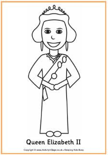 royal family colouring pages