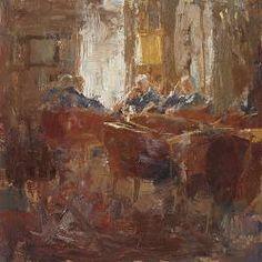 Zondagmiddag | nostalgisch interieur schilderij in olieverf van Flip Gaasendam…
