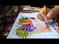 Aprenda a flores usando a técnica de pintura em tecido. - YouTube