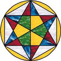 6 pointed star hex sign
