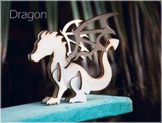 Dragon rompecabezas 3D de madera decoración para por DecolorisShop