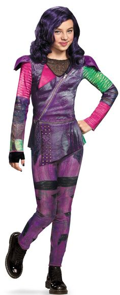 Disney's Descendants: Girls Mal Isle of the Lost Classic Costume from BirthdayExpress.com $29.99