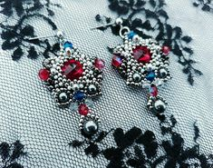Check out this item in my Etsy shop https://www.etsy.com/listing/593329642/vintage-ruby-earringsruby-swarovski